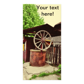 Old well picture card