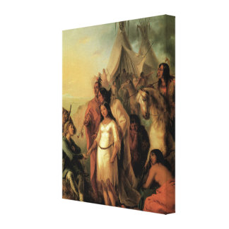 Old West 1845 Trappers Bride 3D Art Wrapped Canvas Stretched Canvas Print