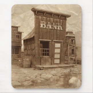 Old West Bank Mouse Pad