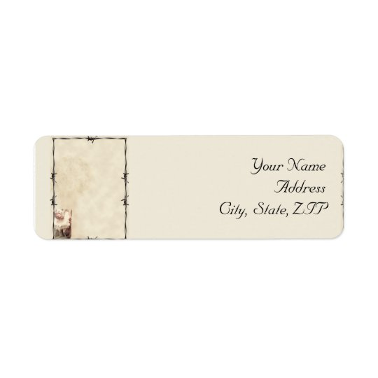 Old West Boots and  Bouquets Return Address Label