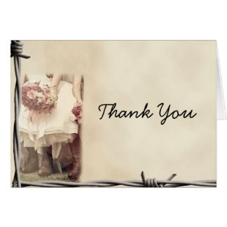 Old West Boots and Bouquets Thank You card