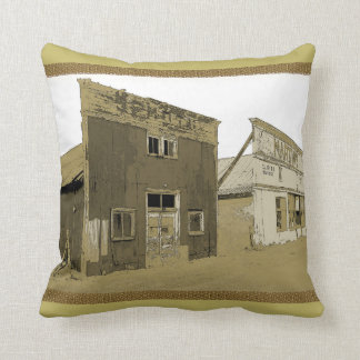 Old West Buildings Cushion