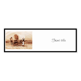 Old West  Cats with Covered Wagon Business Card Templates