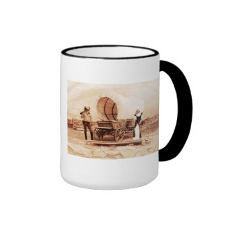 Old West  Cats with Covered Wagon Coffee Mug