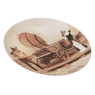 Old West Cats with Covered Wagon Plates