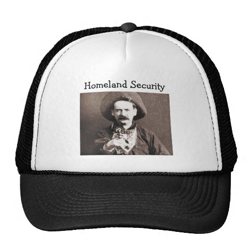 Old West Cowboy Homeland Security Cap Mesh Hats