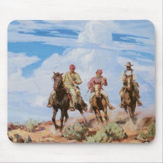 Old West Cowboys Horses Vintage 1922 Mousepad