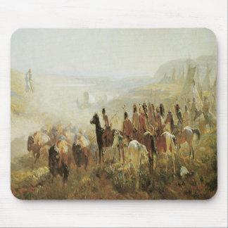 Old West Indians Buffalos Horses Mousepad