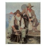 Old West Pay Stagecoach 1909 Art Print Poster
