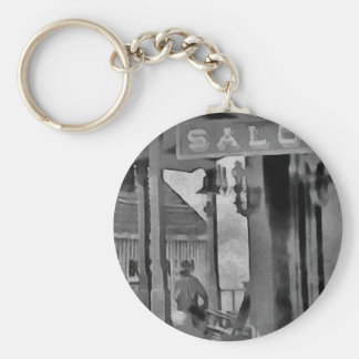 Old West Saloon Key Ring