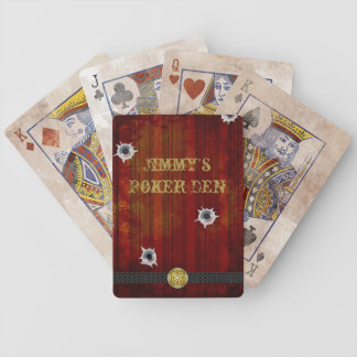 Old West Saloon Poker Playing Cards