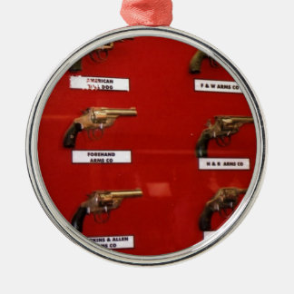 Old West Six-shooters Metal Ornament