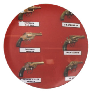 Old West Six-shooters Plate