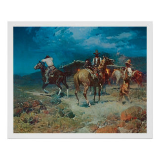 Old West The Pony Express Art Print Poster