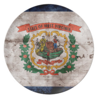 Old West Virginia Flag Plate