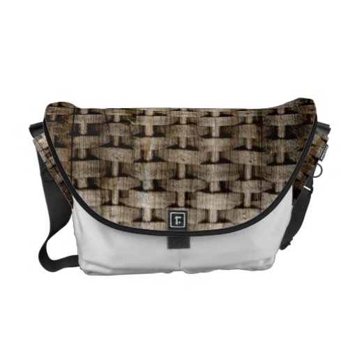 Old wicker art graphic design courier bags