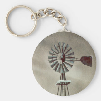 OLD WINDMILL by SHARON SHARPE Key Ring
