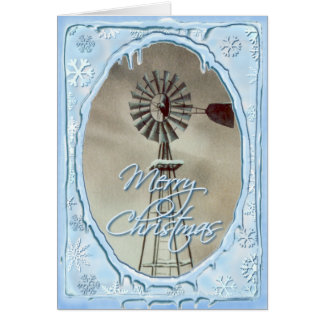 OLD WINDMILL & ICICLES by SHARON SHARPE Card