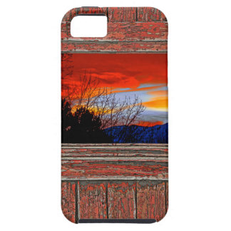 Old window red sunset iPhone 5 case