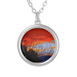 Old window red sunset pendants