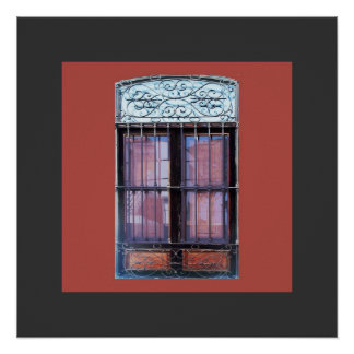 Old Window with Grate in Barranco Poster