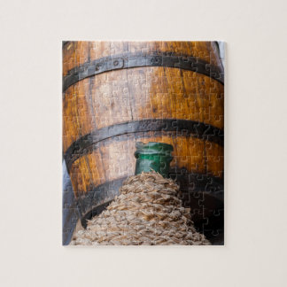 old wine barrel jigsaw puzzle