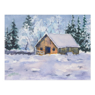 OLD WINTER BARN by SHARON SHARPE Postcard