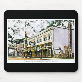 Old Witch Totem and Nugget Shop, Juneau, Alaska. Mouse Pad