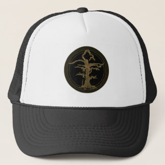 Old Withered Abstract Tree Brown Trucker Hat