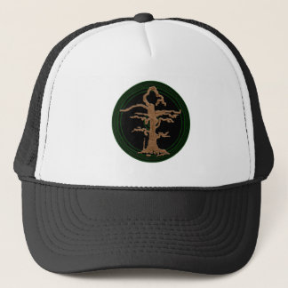 Old Withered Abstract Tree Green Trucker Hat