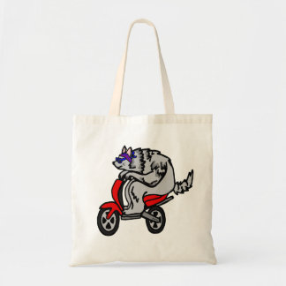 Old Wolf On Scooter Tote Bag