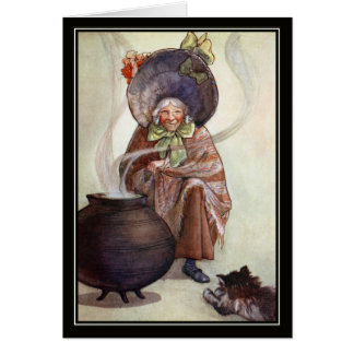 Old Woman and Cauldron by Florence Mary Anderson Card