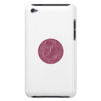 Old Woman Face Circle Mandala Barely There iPod Cover