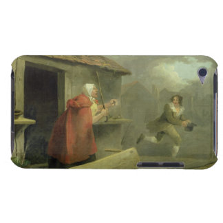 Old Woman Waving a Stick at a Boy, 1793 (oil on ca Barely There iPod Covers