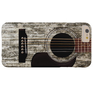 Old Wood Acoustic Guitar Barely There iPhone 6 Plus Case