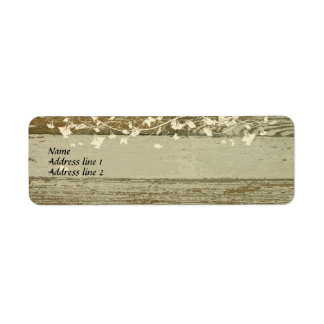 Old Wood Address Labels--gold tint Return Address Label