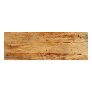old wood pack of skinny business cards