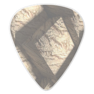 Old Wood Cubes White Delrin Guitar Pick