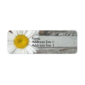 Old Wood Daisy Address Labels