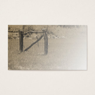 old wood fence by a field or pasture business card