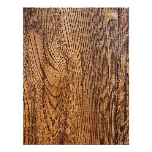 Old wood grain look custom flyer