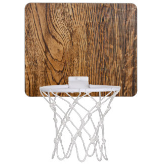 Old wood grain look mini basketball hoop