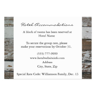 Old Wood Hotel Accommodation Enclosure Cards Business Card Templates