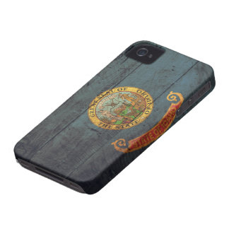Old Wood Idaho Flag; Case-Mate iPhone 4 Case
