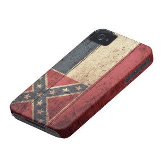 Old Wood Mississippi Flag; Case-Mate iPhone 4 Cases