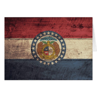 Old Wood Missouri Flag; Note Card