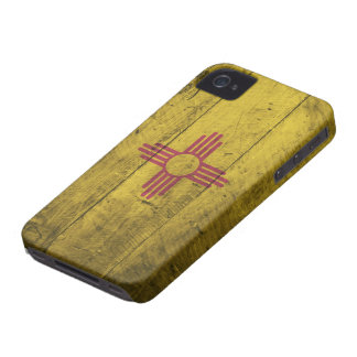 Old Wood New Mexico Flag; Case-Mate iPhone 4 Cases