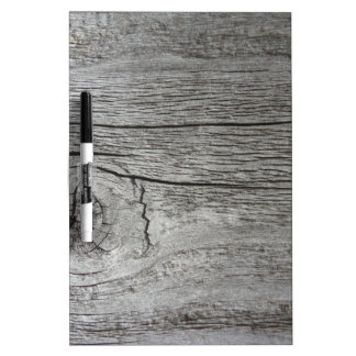 Old wood pattern dry erase board