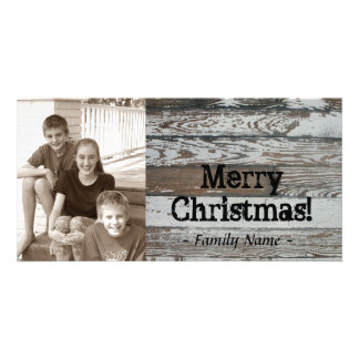 Old Wood Photo Christmas Card Photo Cards