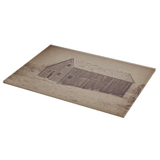 Old Wood Reed's Place Cutting Board Western Barns